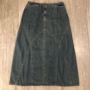 J. Jill out of the blue denim skirt long